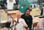 Ralph with Gary Bate's left handed '40th Anniversary' banjo - Virginia Beach, Va.