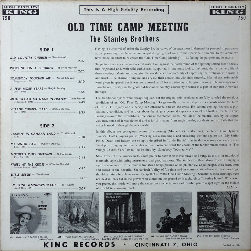 CME: Old Time Camp Meeting