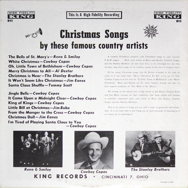 christmas songs rear cover - White Christmas Song