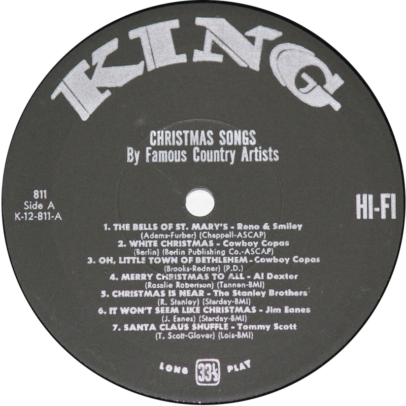 christmas songs rear cover side one - Christmas Songs By Black Artists